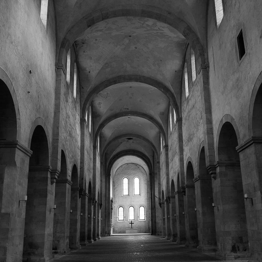 Abtei Eberbach Mittelschiff Studie 1