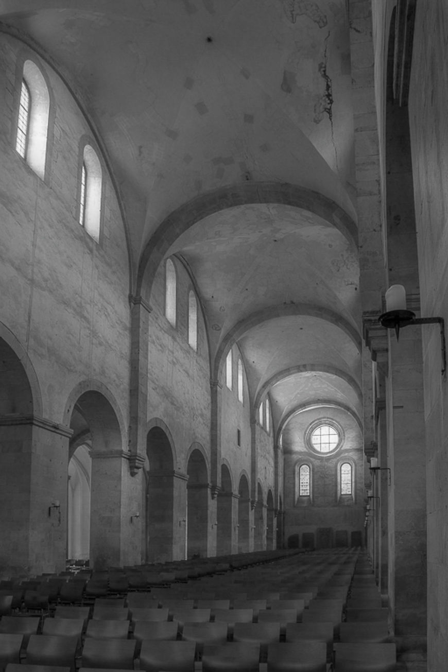 Abtei Eberbach Mittelschiff Studie 2